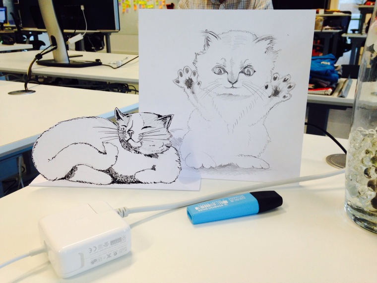 awesome cat drawings